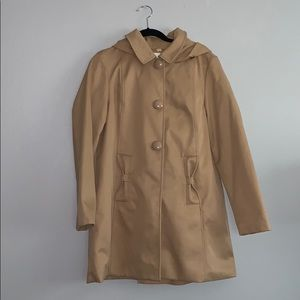 Kate Spade Camel Hooded Trench
